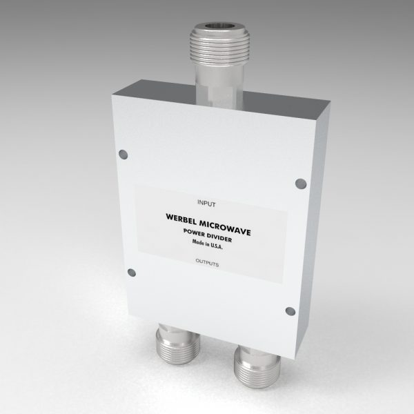 Wideband Power Divider 2-way N Female from 500 MHz to 6 GHz