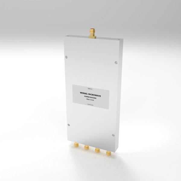 Wideband Power Divider 4-way SMA Female from 500 MHz to 6 GHz