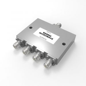 4-way SMA Power Divider from 4 GHz to 18 GHz