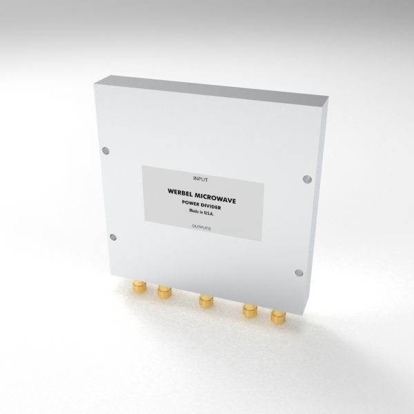 Wideband Single-Sided Power Divider 4-way SMA Female from 500 MHz to 6 GHz