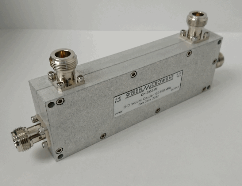 High Power Bi Directional Coupler 6 dB N Female from 130 MHz to 520 MHz